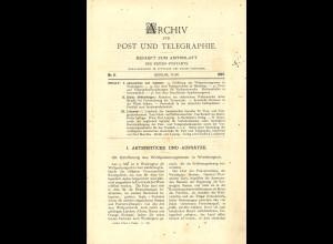 ARCHIV für Post und Telegraphie. Beiheft zum Amtsblatt, Nr. 11/1897