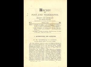 ARCHIV für Post und Telegraphie. Beiheft zum Amtsblatt, Nr. 12/1897