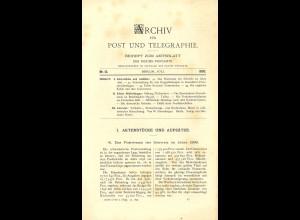 ARCHIV für Post und Telegraphie. Beiheft zum Amtsblatt, Nr. 13/1897