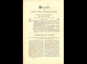 ARCHIV für Post und Telegraphie. Beiheft zum Amtsblatt, Nr. 14/1897