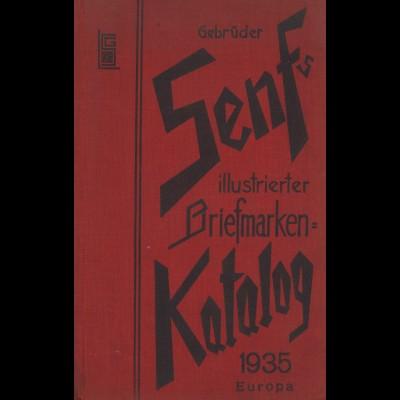 Gebr. Senf: Illustrierter Postwertzeichen-Katalog Europa 1935