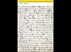 Dr. W. Tapper: Das Privatpostwesen von 1885 bis 1900
