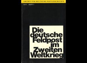 Bodo Gericke, Die deutsche Feldpost im Zweiten Weltkrieg (1971)