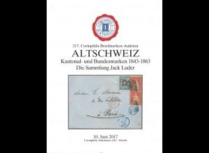 217. Corinphila Auktion: ALTSCHWEIZ. Die Sammlung Jack Luder (Juni 2017)