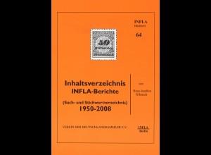 Hans-Joachim Filbrandt: Inhaltsverzeichnis INFLA-Berichte 1950–2008 (2010)