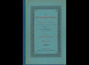 Carl Lindenberg: Die Briefumschläge von Bayern (1895)