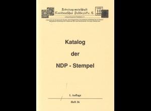 ArGe NDP: Katalog der NDP-Stempel, 1. Aufl. 1991
