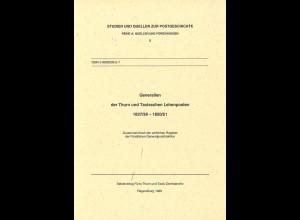 Generalien der Thurn und Taxisschen Lehenposten 1837/38–1850/51 (1999)