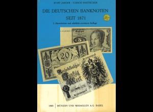 Jaeger/Haevecker: Die Deutschen Banknoten seit 1871, 2. Auflage 1969 + 1974