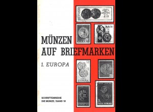 Münzen auf Briefmarken. 1. Europa