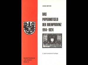 Hans Meyer:Das Papiernotgeld der Rheinprovinz 1914–1924