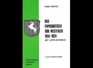 Hans Meyer:Das Papiernotgeld von Westfalen 1914–1924 mit Lippe-Detmold