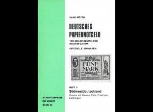 Hans Meyer: Deutsches Papiernotgeld