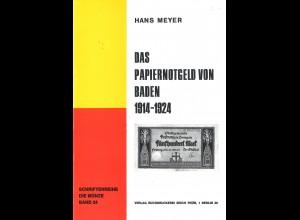 Hans Meyer:Das Papiernotgeld von Baden 1914–1924
