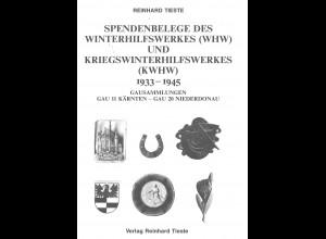 Reinhard Tieste: Spendenbelege des Winterhilfswerkes (WHW) ...