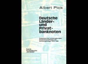 Albert Pick: Deutsche Länder- und Privatbanknoten