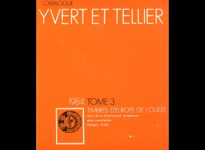 YVERT ET TELLIER: Timbre d'Europe de l'Quest (Band 3, 1984)
