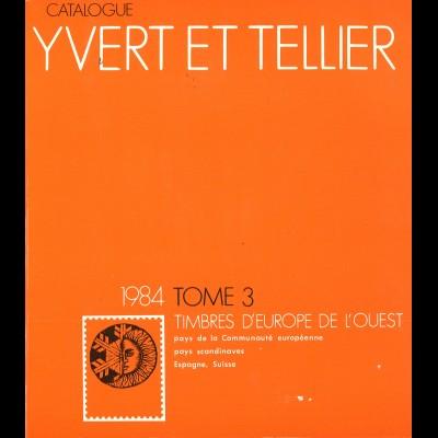 YVERT ET TELLIER: Timbre d'Europe de l'Quest (Band 3, 1984)