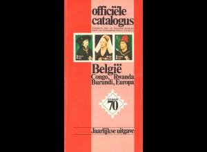 BELGIEN: officiele catalogus Belgie ..., Ausgabe 1969 + 1970