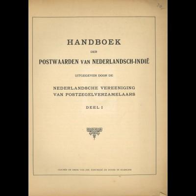 NIEDERLANDE: Handboek der Postwaarden van Nederlandsch-Indie, Teil 1