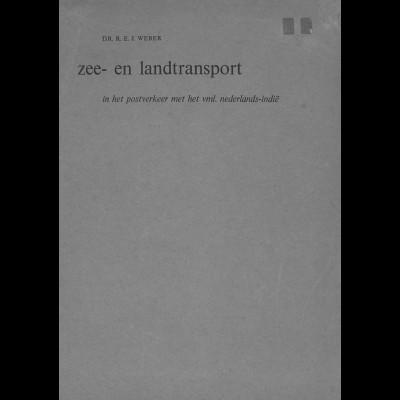 NIEDERLANDE: Dr. R. J. Weber: Zee- en Landtranssport ... (1966)