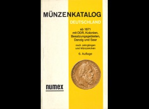 NUMEX Münzenkataloge (4 Exemplare)