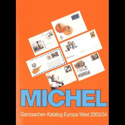 MICHEL Ganzsachen-Katalog Europa West 2003/04