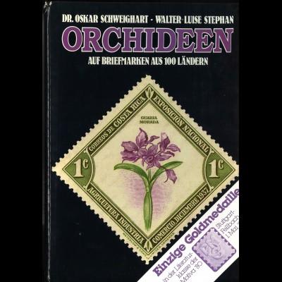Schweighart/Stephan: Orchideen auf Briefmarken aus 100 Ländern (1979) + Band 2