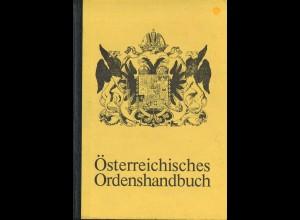 Roman Freiherr von Prochazka: Österreichisches Ordenshandbuch (1974)