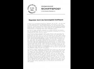 ArGe Schiffspost (4 Einzelschriften)