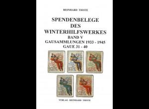 Reinhard Tieste: Spendenbelege des Winterhilfswerkes (Band V)