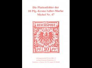 Die Plattenfehler der 10 Pfg.-Krone/Adler-Marke Michel Nr. 47 (1994)