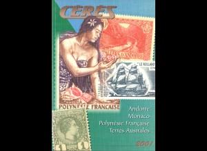 CERES-Katalog: Andorre, Monaco, Polynésie Francaise, Terres Australes (2001)