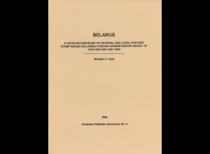 UKRAINE: Bohdan O. Pauk: Belarus. Catalogue Checklist (1996)