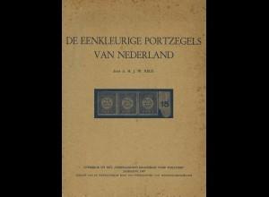 NIEDERLANDE: J. W. Reus: De Eenkleurige Portzegels van Nederland (1949)