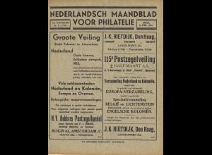 """NIEDERLANDE: Zeitschrift """" Maandblad voor Philatelie (1935-1948)"""