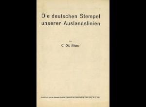 C. Ott: Die deutschen Stempel unserer Auslandslinien (1926)
