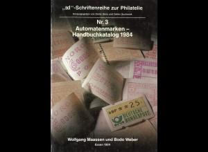 Maassen/Weber: Automatenmarken-Handbuch-Kataliog 1984
