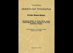 Verzeichnis sämmtlicher Ortschaften der Provinz Hessen-Nassau (1889)