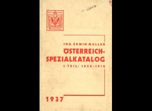 Edwin Müller: Österreich-Spezialkatalog (Teil I + II, 1937 + 1938)