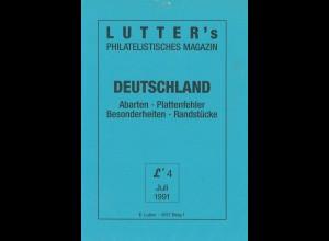 Lutter's Philatelistisches Magazin, Lieferung 4 (1991)