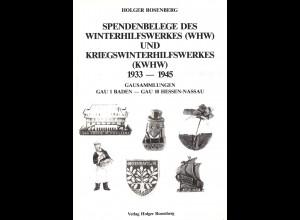 Holger Rosenberg: Spendenbelege des Winterhilfswerkes (WHW) und KWHW