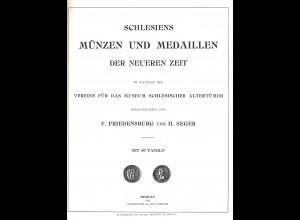 F. Friedensburg und H. Seger: Schlesiens Münzen und Medaillen der neueren Zeit