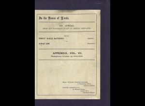In the House of Lords. Gerichtsakte zum Fall Mathews ./. Lek (8 Bände 1924)
