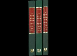 Norbert Kannapin: Die deutsche Feldpostübersicht 1939–1945 (1980, 3 Bände)