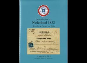 Corinphila: Nederland 1852. De collectie Gerard van Welie (Sept. 2019)