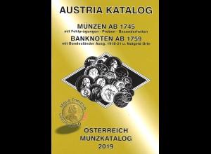 AUSTRIA Österreich Münzkatalog 2019