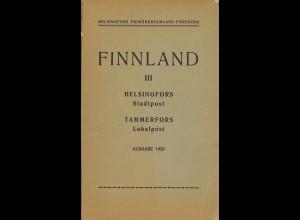 FINNLAND: Stadtpost Helsingfors / Lokalpost Tammerfors (1923)