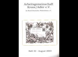 Rundbriefe der ArGe Krone Adler e.V. (7 Hefte aus 2002-2007)