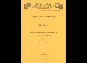 Friedrich Spalink: Die postalischen Dienstleistungen und deren Gebühren ...